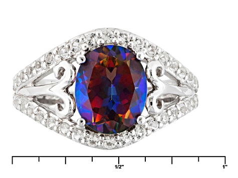 Pre-Owned Cosmopolitan Beyond™ Mystic Topaz® Sterling Silver Ring 2.98ctw