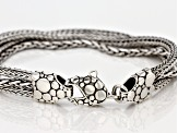 Pre-Owned  Sterling Silver Twisted Multi-Strand Bracelet