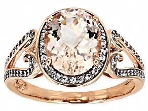 Pre-Owned Pink Morganite 10k Rose Gold Ring 2.66ctw