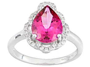 Pre-Owned Pink Danburite Sterling Silver Ring 2.36ctw