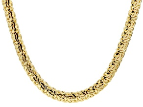 Pre-Owned 18k Yellow Gold Over Bronze Byzantine Necklace 20 inch
