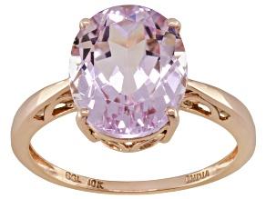 Pre-Owned Pink Kunzite 10k Rose Gold Ring 3.52ct