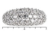 Pre-Owned Cubic Zirconia Silver And 18k Rose Gold Over Silver Ring 6.60ctw (3.20ctw DEW)