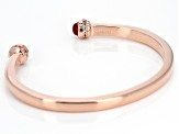 Pre-Owned Pink onyx copper bracelet 0.57ctw