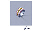 Pre-Owned  Rotenier For Bella Luce ® 2.12ctw Rhodium & 18k Yellow Gold Over Sterling Silver Ring