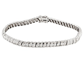 Pre-Owned Diamond Sterling Silver Bracelet .65ctw