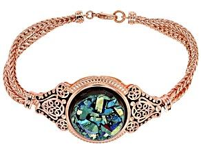 Pre-Owned Green Drusy Copper Bracelet