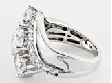 Pre-Owned Cubic Zirconia Rhodium Over Silver Ring 7.75ctw