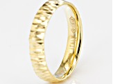 Pre-Owned 14k Yellow Gold With a Sterling Silver Core Diamond Cut Comfort Fit Band Ring