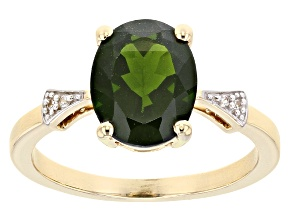 Pre-Owned Green Chrome Diopside 10k Yellow Gold Ring 2.68ctw.