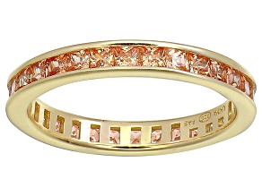 Pre-Owned Bella Luce® 1.96ctw Champagne Diamond Simulant 18k Gold Over Silver Ring