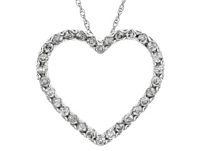 Pre-Owned White Diamond 10k White Gold Pendant .50ctw