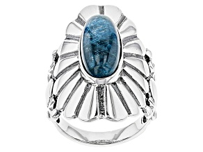 Pre-Owned Blue Apatite Sterling Silver Ring