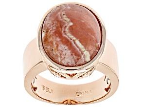 Pre-Owned Copper Rhodochrosite Ring