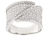 Pre-Owned White Cubic Zirconia Rhodium Over Sterling Silver Ring 1.50ctw