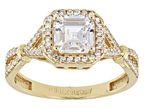 Pre-Owned White Cubic Zirconia 10k Yg Ring 2.25ctw