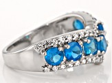 Pre-Owned Blue Neon Apatite Sterling Silver Ring. 1.70ctw