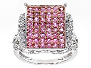 Pre-Owned Pink Burmese Spinel Sterling Silver Ring 1.71ctw