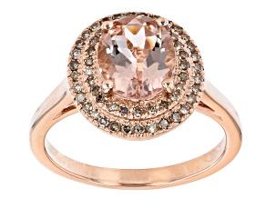 Pre-Owned Pink Morganite 10k Rose Gold Ring 1.43ctw