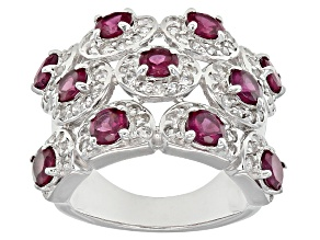 Pre-Owned Purple Rhodolite Sterling Silver Ring. 4.87ctw