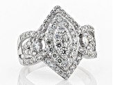Pre-Owned White Lab-Grown Diamond 14K White Gold Ring 1.15ctw