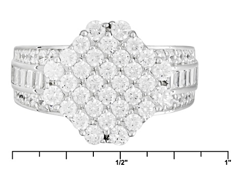 Pre-Owned Cubic Zirconia Silver Ring 3.49ctw (1.98ctw DEW)
