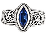 Pre-Owned Royal Bali Blue™ Topaz Silver Solitaire Ring 1.02ctw