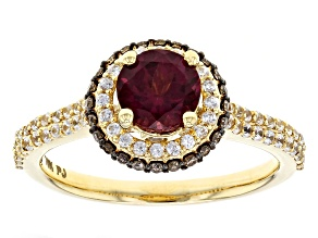 Pre-Owned Purple Grape Color Garnet 10k Yellow Gold Ring 1.93ctw