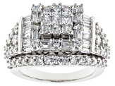 Pre-Owned Cubic Zirconia Silver Ring 4.48ctw (3.57ctw DEW)