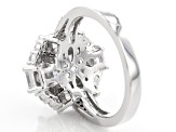 Pre-Owned White Cubic Zirconia Rhodium Over Sterling Silver Ring 6.45ctw