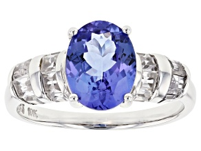 Pre-Owned Blue Tanzanite 10k White Gold Ring 3.14ctw