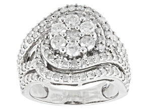 Pre-Owned Diamond 10k White Gold Ring 2.00ctw