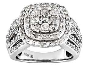 Pre-Owned White Diamond Ring 10k White Gold 2.00ctw