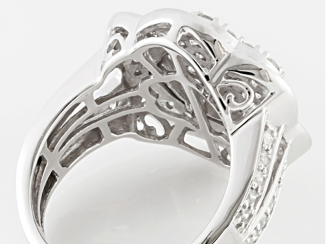 Pre-Owned White Diamond Ring10k White Gold 2.00ctw