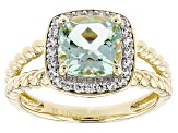 Pre-Owned Green Prasiolite 14k Yellow Gold Ring 1.97ctw