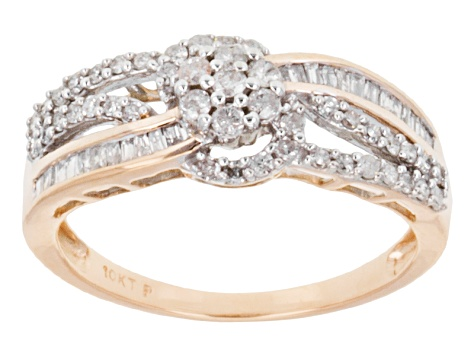 Pre-Owned Diamond 10k Rose Gold Ring .50ctw