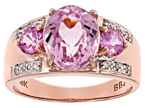 Pre-Owned Pink Kunzite 10k Rose Gold Ring 3.04ctw