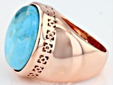 Pre-Owned Turquoise Copper Ring