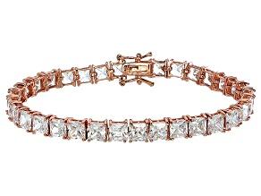 Pre-Owned Bella Luce® 35.53ctw Diamond Simulant 18k Rose Gold Over Silver Bracelet