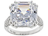 Pre-Owned White Cubic Zirconia Rhodium Over Sterling Silver Ring 23.95CTW