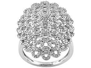 Pre-Owned White Diamond Silver Ring .40ctw