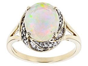 Pre-Owned Ethiopian Opal 10k Yellow Gold Ring 1.66ctw