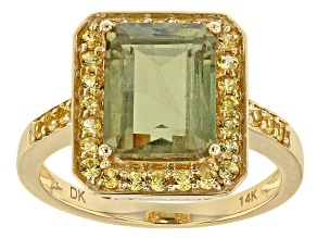 Pre-Owned Green Diaspore 14k Yellow Gold Ring 3.49ctw