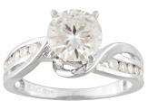 Pre-Owned Moissanite Platineve Ring 1.73ctw D.E.W