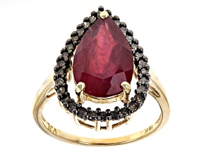 Pre-Owned Red Ruby 10k Yellow Gold Ring 4.30ctw