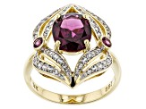Pre-Owned Grape Color Garnet 14k Yellow Gold Ring 2.83ctw
