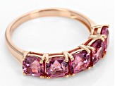 Pre-Owned Pink Burmese Spinel 10k Rose Gold Ring 3.50ctw