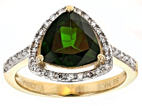 Pre-Owned Green Chrome Diopside 14k Yellow Gold Ring 2.46ctw