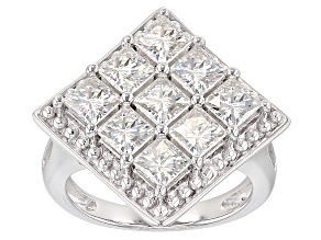Pre-Owned Moissanite Platineve Ring 3.69ctw D.E.W