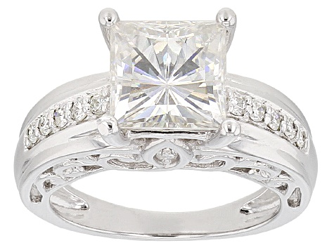 Pre-Owned Moissanite Ring Platineve™ 3.34ctw DEW